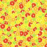 Achtergrond van citrusvrucht (citroen, kalk, sinaasappel, grapefruit) Royalty-vrije Stock Afbeeldingen