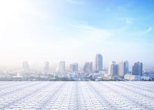Achtergrond van cityscape concept Stock Afbeeldingen