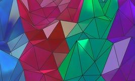 Achtergrond van Colorfull de abstracte wireframe royalty-vrije stock foto