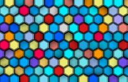 Achtergrond van colorist 3d vormen met hulp en schaduwen, Stock Afbeelding