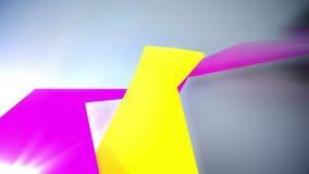Achtergrond van 3d geometrische vormen stock illustratie