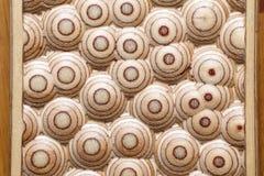 Achtergrond van 3D patroon op houten paneel Stock Foto