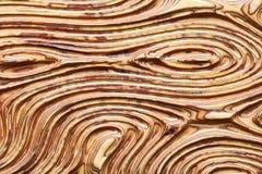 Achtergrond van 3D patroon op houten paneel Stock Afbeelding