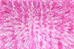 Achtergrond van de Abstrack de roze kubus Royalty-vrije Stock Afbeeldingen