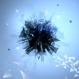 Achtergrond van de Abstrakt de donkere explosie Stock Illustratie