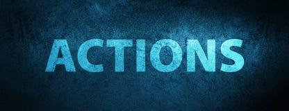 Achtergrond van de acties de speciale blauwe banner Stock Foto