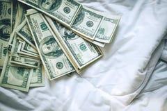 Achtergrond van de Amerikaanse dollar - Landschap samen Gelaagd in seve stock afbeelding