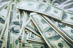 Achtergrond van de Amerikaanse dollar - Landschap samen Gelaagd in seve royalty-vrije stock foto