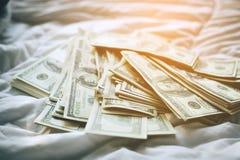 Achtergrond van de Amerikaanse dollar - Landschap samen Gelaagd in seve stock foto's