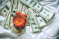 Achtergrond van de Amerikaanse dollar - Landschap samen Gelaagd in seve stock afbeeldingen