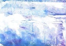 Achtergrond van de Azureish de witte abstracte waterverf royalty-vrije stock afbeeldingen