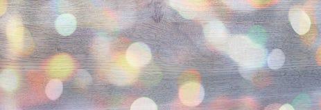 Achtergrond van de banner de Feestelijke vakantie met licht gevoelig bokeheffect en tekenings Decoratieve sneeuw Stock Afbeelding