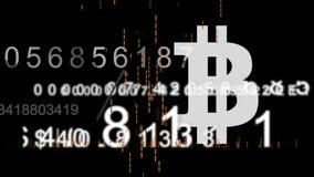 Achtergrond van de Bitcoin de virtuele munt stock footage