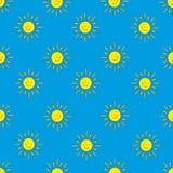 Achtergrond van de (blauwe) zonnen Stock Afbeeldingen