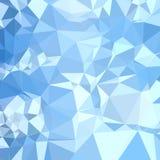 Achtergrond van de blizzard de Blauwe Abstracte Lage Veelhoek Stock Fotografie