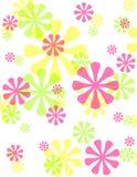 Achtergrond van de Bloemen van de lente de Ondoorzichtige Retro Royalty-vrije Stock Fotografie