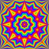Achtergrond van de caleidoscoop de heldere regenboog vector illustratie