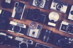 Achtergrond van de camera de vastgestelde fotografie royalty-vrije stock foto