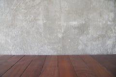 Achtergrond van de cement streeft de concrete muur voor exemplaar ruimte en oude bruin na royalty-vrije stock fotografie