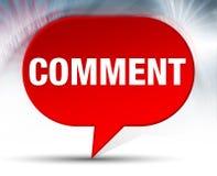 Achtergrond van de commentaar de Rode Bel vector illustratie