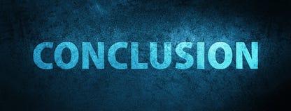 Achtergrond van de conclusie de speciale blauwe banner Royalty-vrije Stock Fotografie