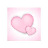Achtergrond van de dag de roze harten van valentijnskaarten Royalty-vrije Stock Foto's