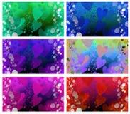 Achtergrond van de Dag van de hartenValentijnskaart Royalty-vrije Stock Foto's