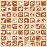 Achtergrond van de Dag van de Valentijnskaart Royalty-vrije Stock Fotografie