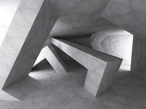 Achtergrond van de Darck de Concrete Architectuur Geomewtric Chaotische Const Royalty-vrije Stock Foto