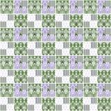 Achtergrond van de de elemententextuur van het lapwerk de naadloze patroon geometrische Royalty-vrije Stock Foto