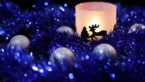 Achtergrond van de de Herten de lichte lamp van het Kerstmisnieuwjaar stock footage