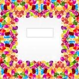 Achtergrond van de de regenboog de glanzende cirkel van de suikergoedkleur Stock Fotografie