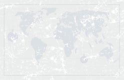 Achtergrond van de de wereldkaart van Grunge de oude, vector Stock Afbeelding