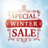 Achtergrond van de de winter de speciale verkoop Royalty-vrije Stock Afbeeldingen