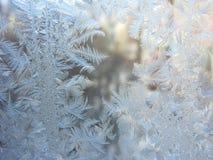 Achtergrond van de de wintertextuur van sneeuwvlokken de abstracte Stock Fotografie