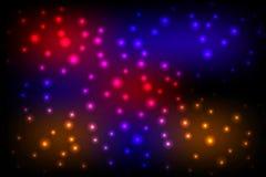 Achtergrond van de disco de kleurrijke verlichting stock illustratie