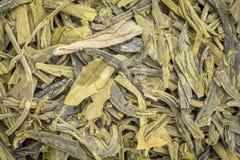 Achtergrond van de Dragonwell de groene thee Stock Afbeelding