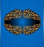 Achtergrond van de druiven de blauwe koninklijke luxe Royalty-vrije Stock Afbeelding