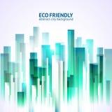 Achtergrond van de Eco de vriendschappelijke abstracte stad Stock Fotografie