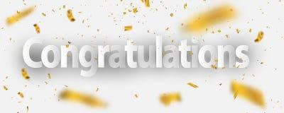 Achtergrond van de van de achtergrond gelukwensen de Gouden viering gelukwensen Gouden viering Royalty-vrije Stock Afbeeldingen