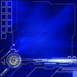 Achtergrond van de geometrische en lijnen de abstracte blauwe kleur Royalty-vrije Stock Afbeelding