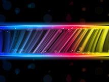 Achtergrond van de Golven van de disco de Abstracte Kleurrijke royalty-vrije illustratie