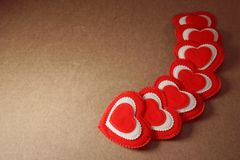 Achtergrond van de Groetvalentine love van het hartenplakboek Sjofele, XXX Royalty-vrije Stock Afbeelding