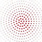 Achtergrond van de hart halftone kleur Van het valentijnskaartendag en huwelijk uitnodigingskaart, Romaans en liefde Vector stock illustratie