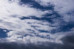 Achtergrond van de hemel de witte wolk Stock Afbeelding
