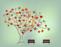Achtergrond van de herfststeeg Royalty-vrije Stock Foto