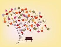 Achtergrond van de herfststeeg Stock Fotografie