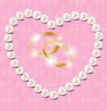 Achtergrond van de het hart de vectorillustratie van de parel Royalty-vrije Stock Fotografie