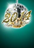 achtergrond van de het jaarpartij van 2014 de gelukkige nieuwe Stock Foto's