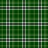 Achtergrond van de het patroontextuur van de plaid de Schotse stof naadloze - groene, witte, gele en zwarte kleur stock illustratie